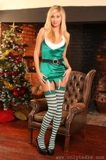 Sexy blonde Barka the ultimate Christmas elf - 01