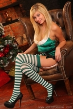 Sexy blonde Barka the ultimate Christmas elf - 05