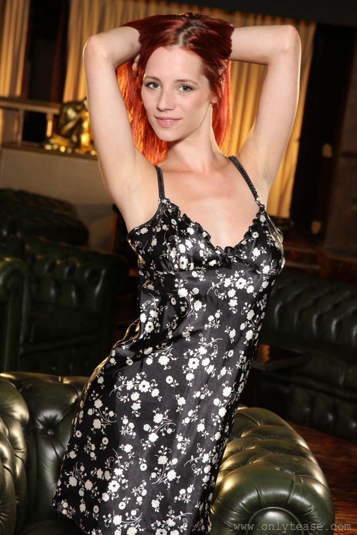 Ariel in silky lingerie