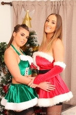 Stacey and Sarah looking amazing for Christmas - 02