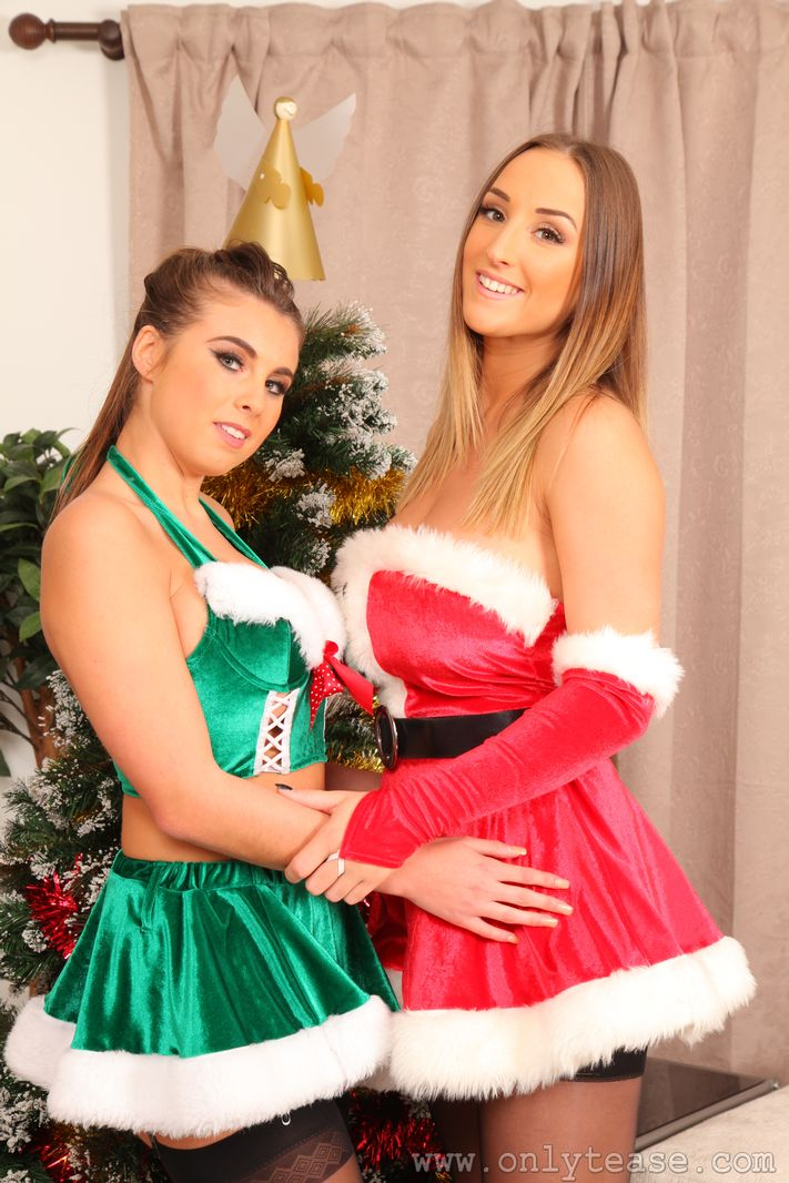 Stacey and Sarah looking amazing for Christmas