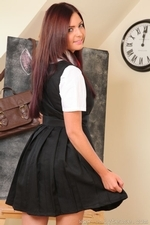 Sexy busty Stephanie in college uniform - 03