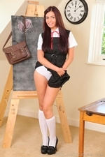Sexy busty Stephanie in college uniform - 09