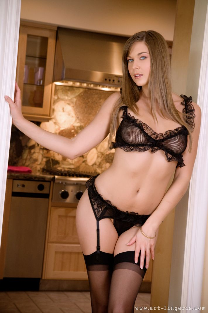 Right! Idea Brunette sheer lingerie wife casually