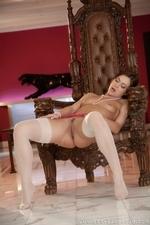 Stunning brunette Alyssa flaunts her assets - 15
