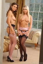 Two Stunners In Sexy Stockings - Picture 1