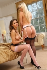 Two Stunners In Sexy Stockings - Picture 5