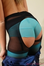 Jodie Gasson Looks Amazing In Stockings And Pantyhose Layered Together - Picture 12
