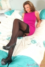 Busty Babe Becki H In Layered Nylons - Picture 6