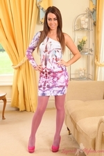 Multi coloured layered nylons looking great - 01