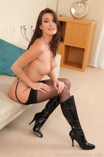 Petra V In Black Mini Skirt And Suspenders - Picture 16