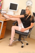 Busty secretary Candice in sexy stockings | 15 August 2013