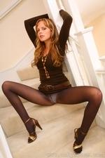 Stunning Monika looks fabulous wearing minidress and high heels - 10