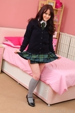 Sexy Bex R In Sultry College Uniform With Socks - Picture 1