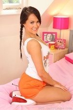 Felicity teasing as a stunning Hooters girl in pantyhose - 05