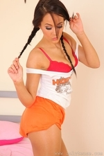 Felicity teasing as a stunning Hooters girl in pantyhose - 11