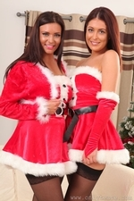 Susie Grace And Steph Posing For Christmas In Stockings - Picture 2