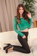 Leggy stunner in tight leggings and stockings - 04
