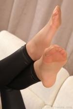 Leggy stunner in tight leggings and stockings - 13