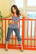 Carla In A Revealing Tight Top And Jeans. - Picture 4
