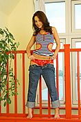 Carla In A Revealing Tight Top And Jeans. - Picture 8