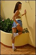 Carla Enjoys The Sun In A Tight Yellow Top - Picture 11