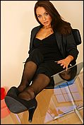 Carla Looking As Delightful As Ever As She Seductively Strips Of Her Sexy Secretary Outfit In The Office - Picture 9