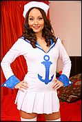 Carla Looks Ship Shape As She Slowley Teases Her Way Out Of Her Gorgeous Sailors Outfit - Picture 1