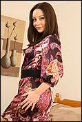 Carla Wearing A Sexy And Colourful Tight Dress. - Picture 4