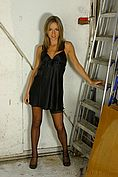 Melanie In Stunning Black Chemise And Lingerie. - Picture 1