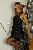 Melanie In Stunning Black Chemise And Lingerie. - Picture 3