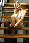 Melanie In Sexy Secretary Outfit On The Stairs - Picture 13