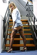 Melanie In Sexy Secretary Outfit On The Stairs - Picture 3