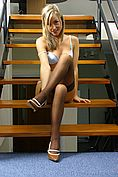 Melanie In Sexy Secretary Outfit On The Stairs - Picture 9