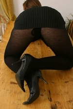Sophisticated Secretary Cate Harrington In Sexy Thick Black Pantyhose - Picture 8