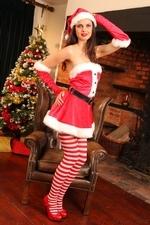 Leggy Jasmine in stripy socks - 04