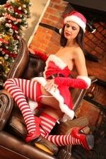 Leggy Jasmine in stripy socks - 05