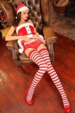 Leggy Jasmine in stripy socks - 12