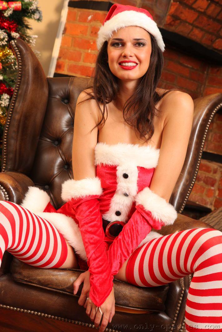 Leggy Jasmine in stripy socks