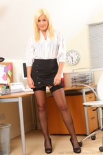 Amy Green Takes A Break From Her Office Duties To Do A Sexy Strip - Picture 1