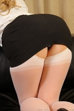 Holly W Slowly Removes Her Secretary Outfit - Picture 3
