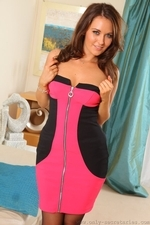 Gorgeous Stunner Zoe Alexandra  Teases Her Way Out Of The Sexy Mini Dress Revealing Her Sexy Body - Picture 8