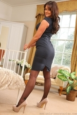 Busty Bubbly Kat Dee In Black Stockings And Suspenders - Picture 3