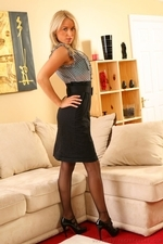 Stunning secretary takes her clothes off - 04