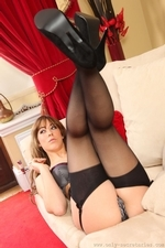 Pretty secretary shows off her amazing figure as she teases her way out of her office clothes - 12