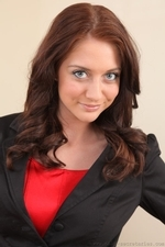 Beauty Natalie T In Black Miniskirt Suit - Picture 2