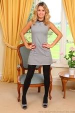 Amazing Blonde Danni B In Very Short Secretary Dress - Picture 1