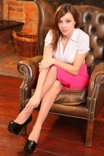 Such a slim and sexy secretary in pantyhose - 02