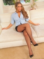 Amazing Secretary Emma K In Black Pantyhose - Picture 8