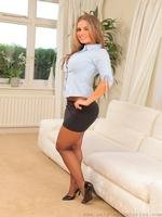 Amazing secretary Emma K in black pantyhose - 04
